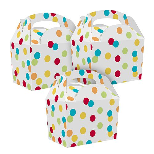 Multicolour Spots Party Box - Each