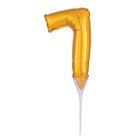 Gold Micro Number 7 Foil Balloon - 15cm