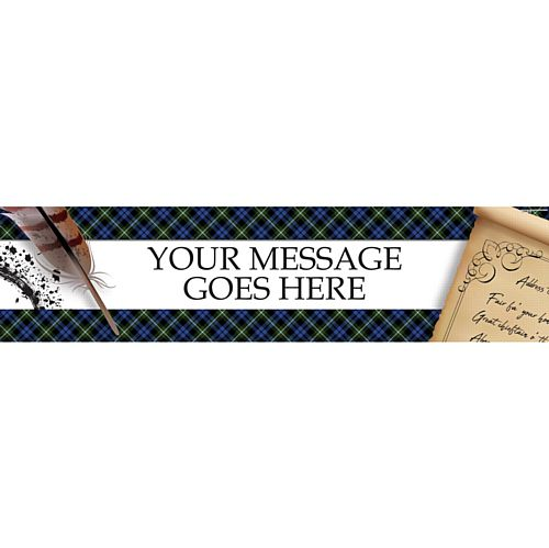Burns Night Scroll Personalised Banner - 1.2m
