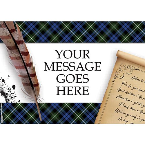 Burns Night Scroll Personalised Poster - A3