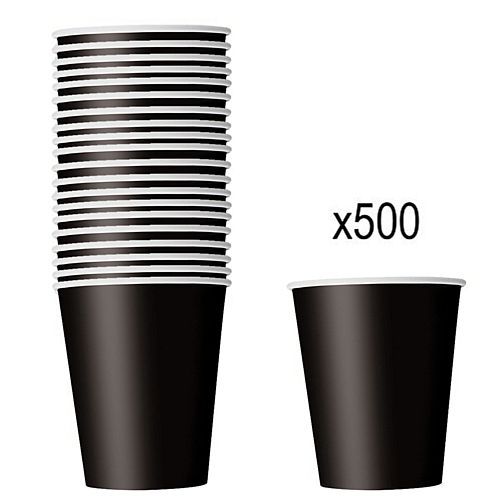 Black Paper Cups - 266ml - Pack of 500