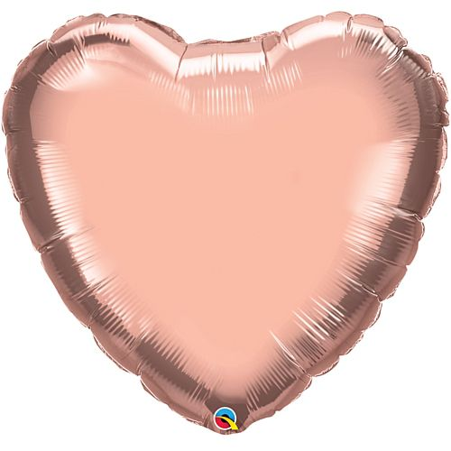 "Large Rose Gold 36"" Heart Foil Balloon"