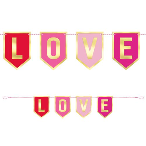 Love Card Letter Banner Bunting - 91cm