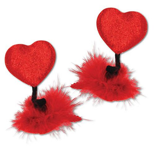 Heart Hair Clips - Pack of 2