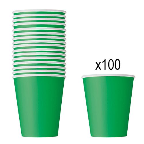 Green Paper Cups - 266ml - Pack of 100
