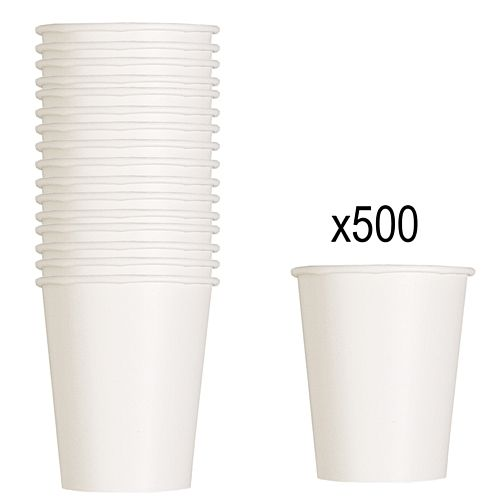 White Paper Cups - 266ml - Pack of 500