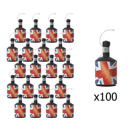 Union Jack Party Poppers - Pack of 100
