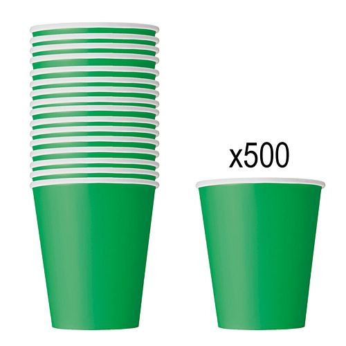 Green Paper Cups - 266ml - Pack of 500
