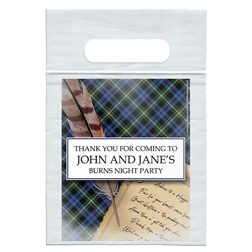 Personalised Burns Night Scroll Card Insert With Sealed Party Bag - Each