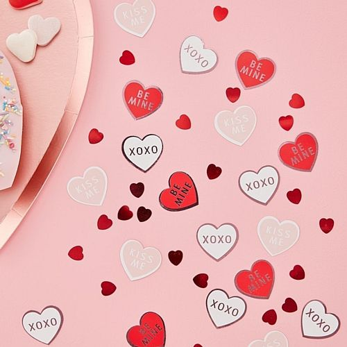 Heart Shaped Confetti - Be My Valentine - 14g