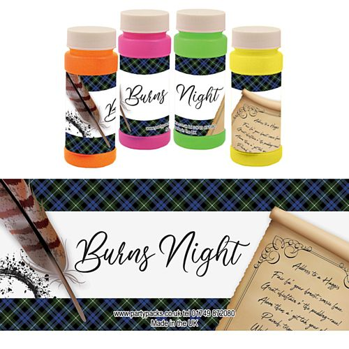 Burns Night Scroll Bubbles - Pack of 6