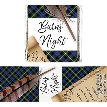 Square Chocolates - Burns Night Scroll - Pack of 16