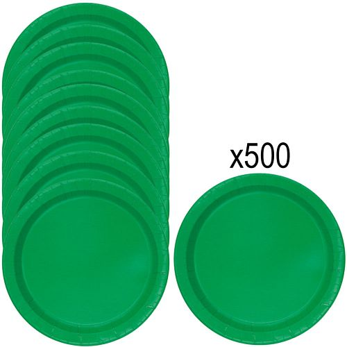 Green Paper Plates - 23cm - Pack of 500
