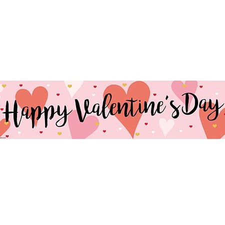 Click to view product details and reviews for Valentines Kisses Banner 120cm X 30cm.