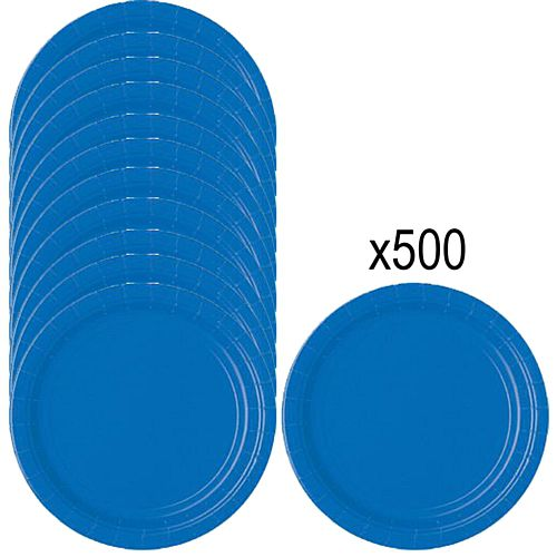 Blue Paper Plates - 23cm - Pack of 500