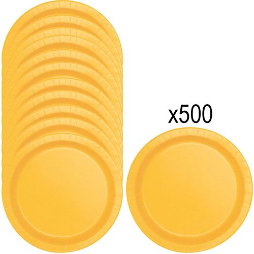 Golden Yellow Paper Plates - 23cm - Pack of 500