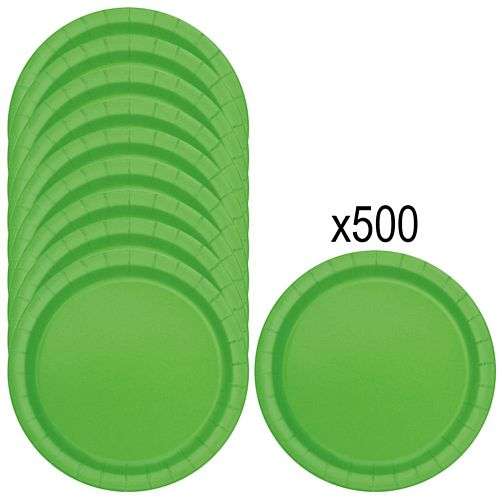 Lime Green Paper Plates - 23cm - Pack of 500