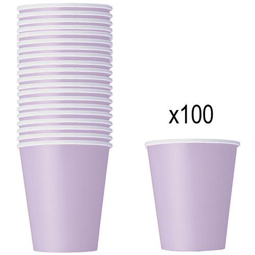 Pastel Lilac Paper Cups - 266ml - Pack of 100
