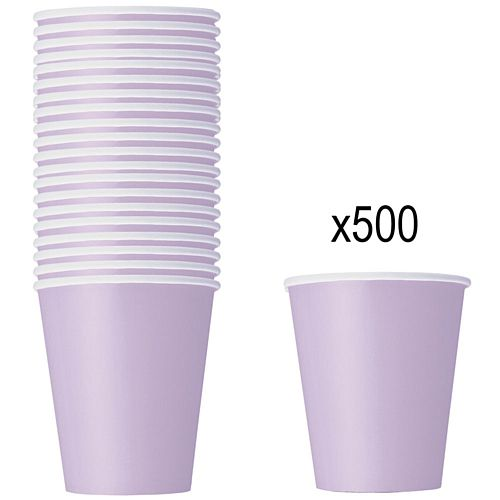 Pastel Lilac Paper Cups - 266ml - Pack of 500