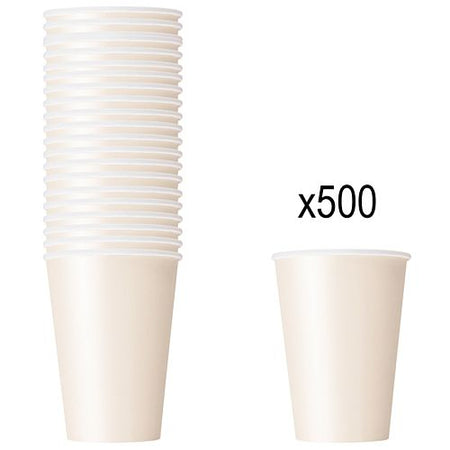 Vanilla Cream (Ivory) Paper Cups - 266ml - Pack of 500