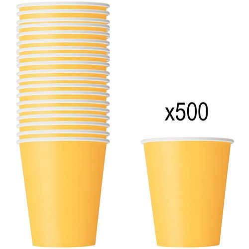 Yellow Paper Cups - 266ml - Pack of 500
