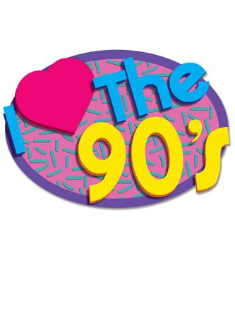 I Love the 90's Cutouts - 55cm - Pack of 2