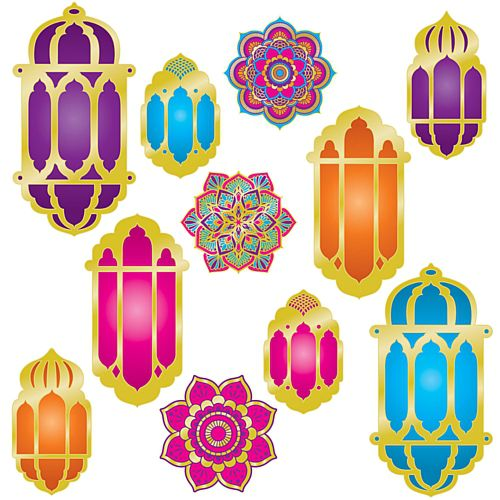 Foil Lantern and Mandala Cutouts - 38cm - Pack of 11