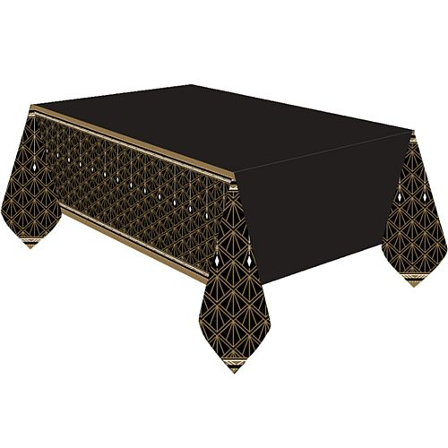 Hollywood Glamour Plastic Tablecloth -  137cm x 260cm