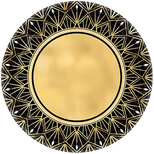Hollywood Glamour Metallic Paper Plates - 26cm - Pack of 8