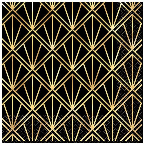 Hollywood Glamour Luncheon Napkins - 33cm - Pack of 16