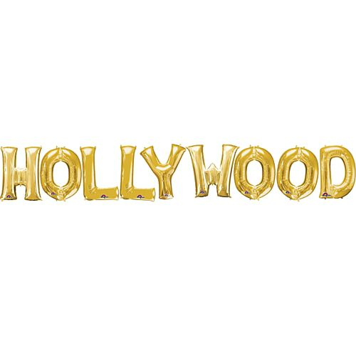 "Hollywood 16"" Gold Foil Balloon Pack"