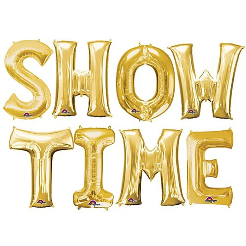 "Showtime 16"" Gold Foil Balloon Pack"