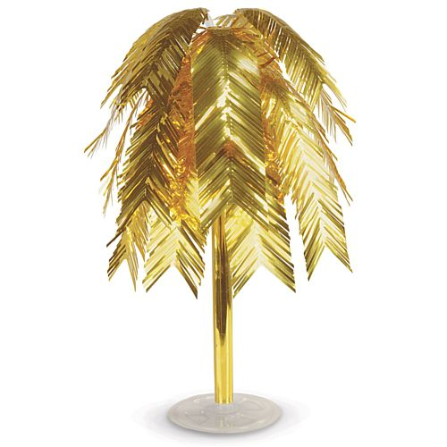 Metallic Gold 1920's Style Feather Cascade Centrepiece - 60cm