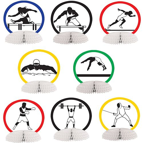 Summer Sports Mini Centrepieces - 11cm - Pack of 8