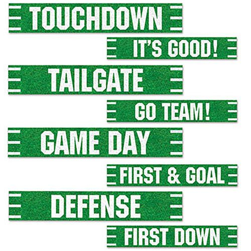 American Football Street Sign Card Cutout Wall Decorations - 60cm -  Pack of 8