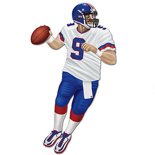 American Football Quarterback Jointed Card Cutout Wall Decoration - 1.8m