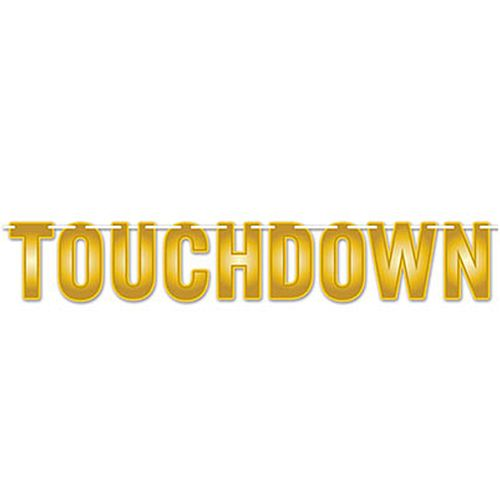 American Football 'Touchdown' Letter Banner - 1.8m
