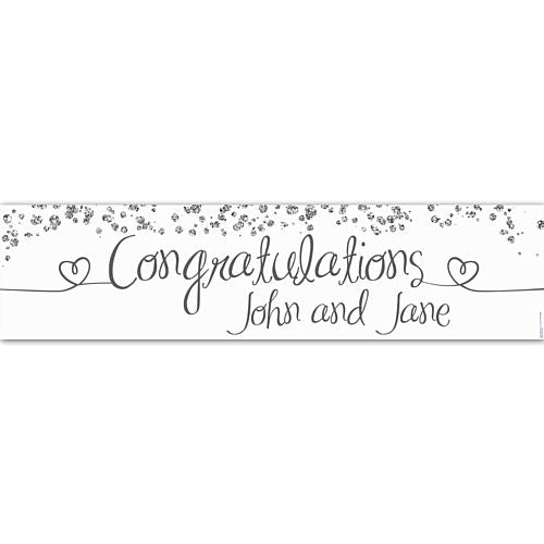 Congratulations Glitter Personalised Banner - 1.2m