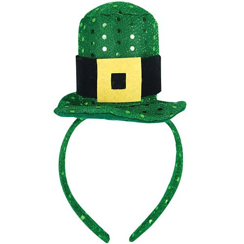Mini Sequinned Irish Hat on Heaband