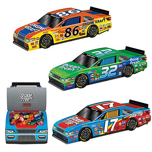 3D Race Car Centrepieces - 25cm - Pack of 3