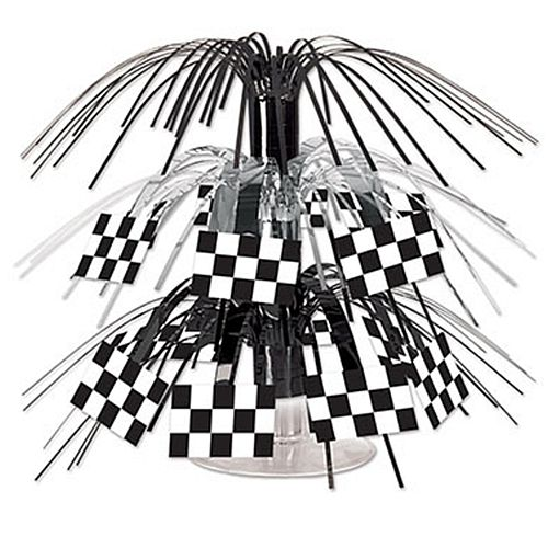 Checkered Flag Mini Cascade Centrepiece - 19cm