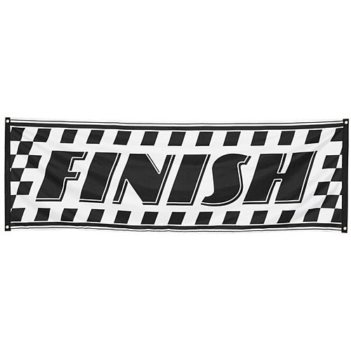Fabric Racing Banner 'Finish' Sign - 74cm x 220cm