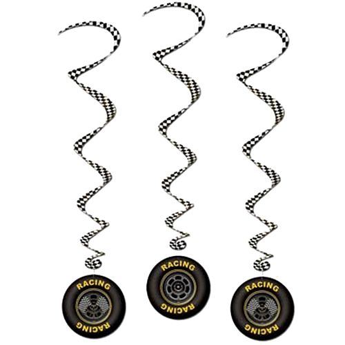 Racing Tyre Hanging Whirls - 90cm - Pack of 3
