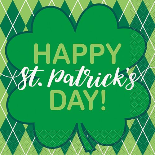 St. Patrick's Clover Luncheon Napkins - Pack of 16