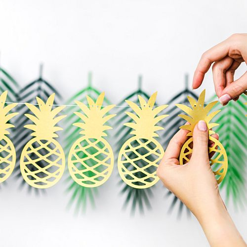 Gold Pineapple Garland - 1.5m