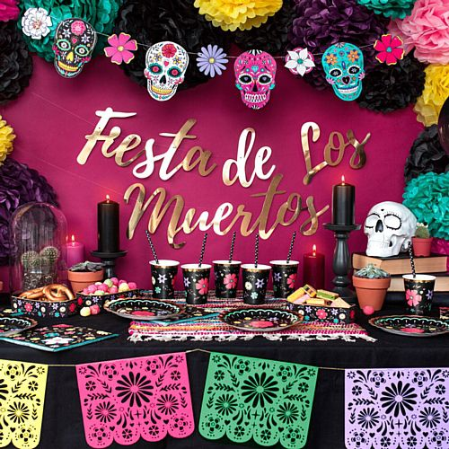 Fiesta de Los Muertos Day of the Dead Banner - 1.6m