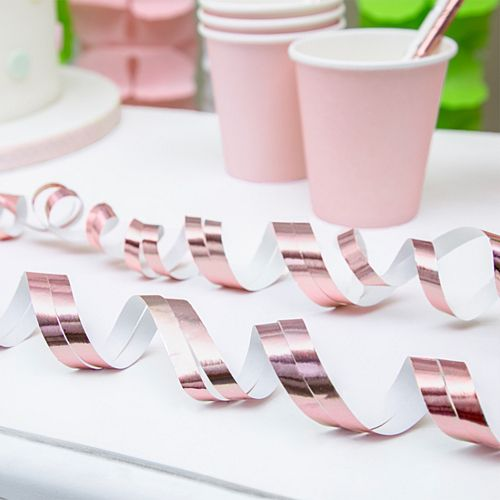 Rose Gold Streamers - 3.8m - Pack of 18