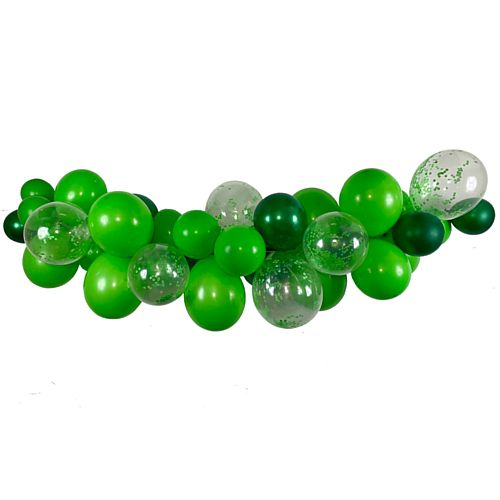 Green Mix Balloon Arch DIY Kit - 34 Balloons - 2.5m