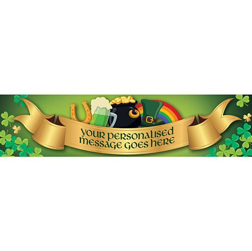 St. Patrick's Day Personalised Banner - 1.2m