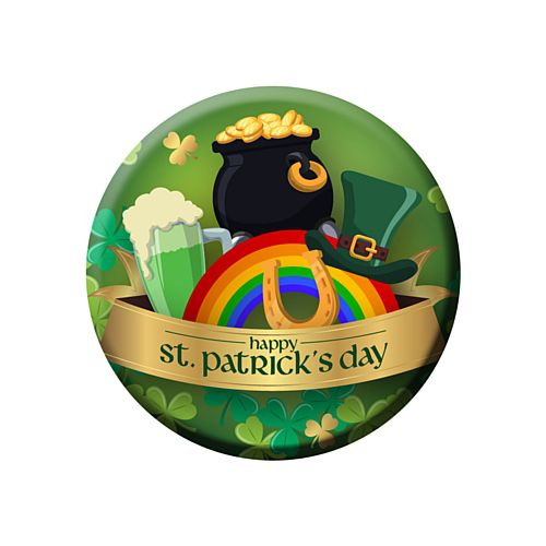 St. Patrick's Day Badge - 58mm - Each